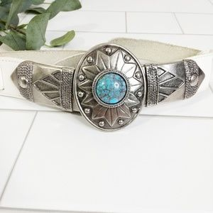 Vintage Boho Southwestern Leather Belt
